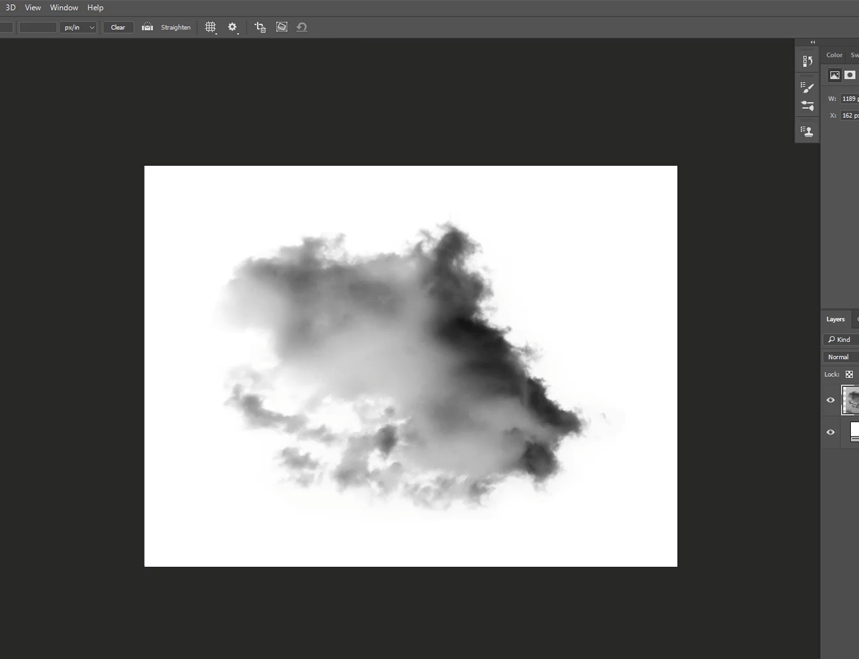 create fog in photoshop